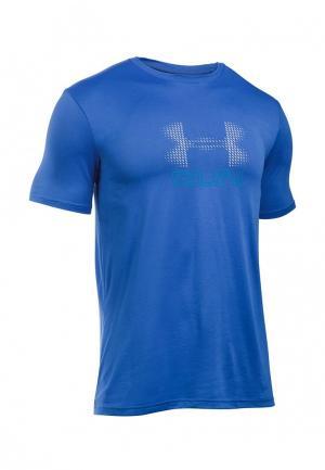 Футболка спортивная Under Armour. Цвет: синий