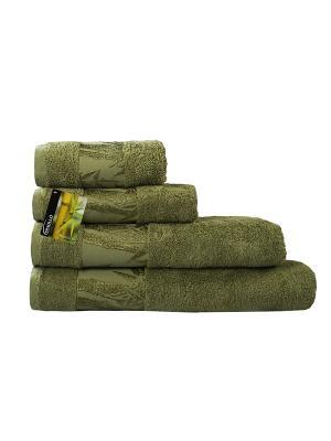 Полотенце махровое Бамбук SPAOLLO. Цвет: оливковый