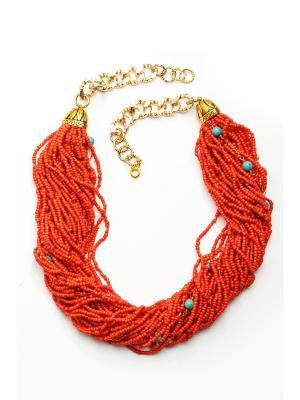 Колье Коралл Anastasiya Usoltseva. Цвет: бирюзовый, коралловый, оранжевый