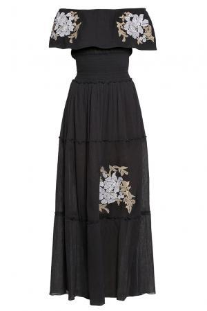 Платье из хлопка с вышивкой  186259 Cristina Effe. Цвет: черный