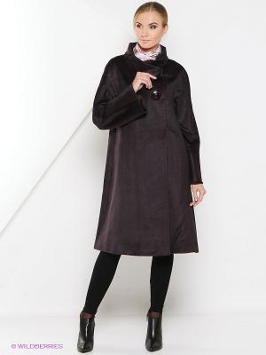 Пальто Estrade. Цвет: темно-бордовый