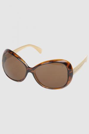Солнцезащитные очки Fiorucci. Цвет: коричневый