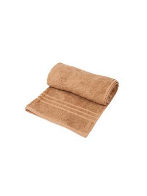 Полотенце махровое ARLONI. Цвет: светло-коричневый