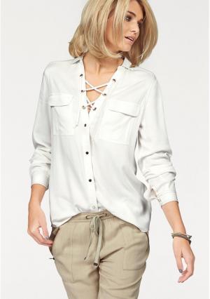 Блузка Laura Scott. Цвет: цвет белой шерсти