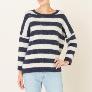 Пуловер TRINIDAD HARRIS WILSON. Цвет: темно-синий/экрю