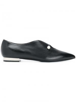 Туфли с заостренным носком Coliac. Цвет: чёрный
