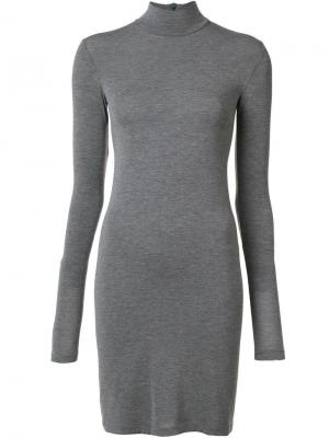 Облегающее платье с длинными рукавами Gareth Pugh. Цвет: серый