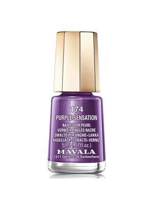 Лак для ногтей тон 174 Purple Sensation Mavala. Цвет: темно-фиолетовый