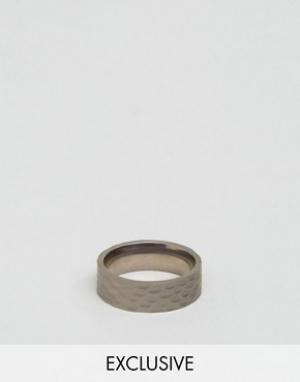 Seven London Серебристое кольцо эксклюзивно для ASOS. Цвет: серебряный