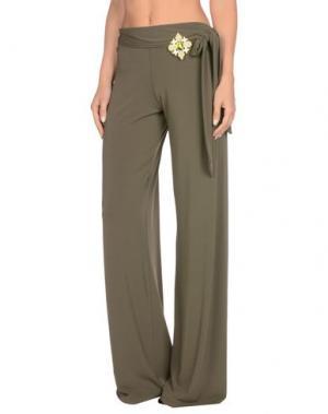 Повседневные брюки FISICO. Цвет: зеленый-милитари