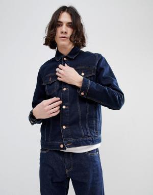 ASOS Джинсовая куртка цвета индиго. Цвет: синий
