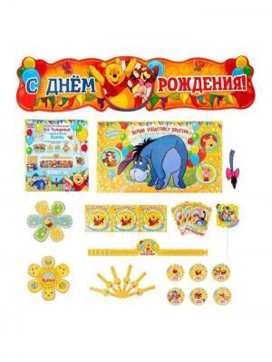 Набор для проведения дня рождения Веселый праздник, Медвежонок Винни и его друзья Disney. Цвет: синий,морская волна,горчичный