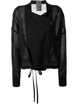 Куртка с прозрачными рукавами Ann Demeulemeester. Цвет: чёрный