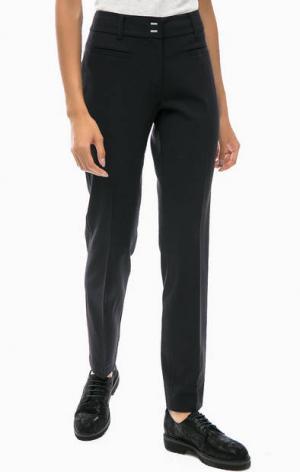 Зауженные брюки черного цвета olsen. Цвет: черный
