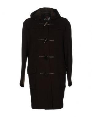 Пальто GLOVERALL. Цвет: темно-коричневый