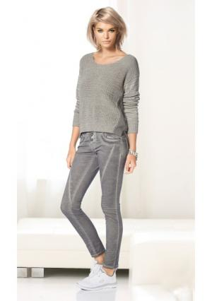 Пуловер Laura Scott. Цвет: розовый, серый, хаки