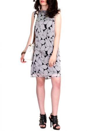Платье FRANCESCA LUCINI. Цвет: цветы, черный