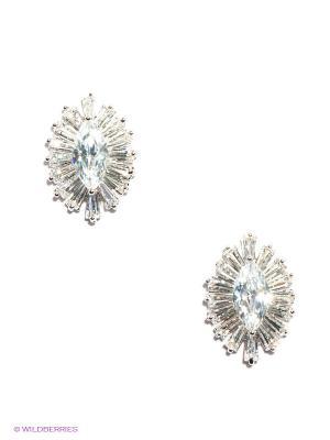 Серьги Lovely Jewelry. Цвет: серебристый, белый
