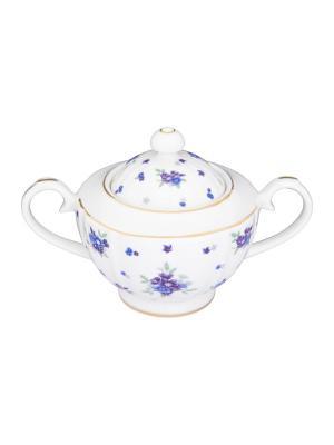 Сахарница Сиреневый туман Elan Gallery. Цвет: белый, голубой, сиреневый