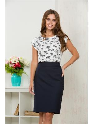Блузка KEY FASHION. Цвет: черный, белый