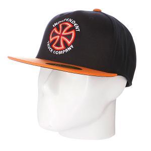 Бейсболка Flexfit  Bauhaus Cross Black/Orange Independent. Цвет: оранжевый,черный