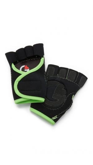 Спортивные перчатки черного цвета и лайма G-Loves