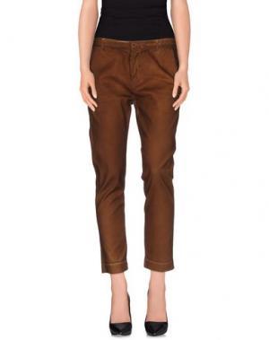 Повседневные брюки MANILA GRACE DENIM. Цвет: коричневый