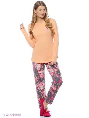 Комплект одежды Vienetta Secret. Цвет: оранжевый, антрацитовый