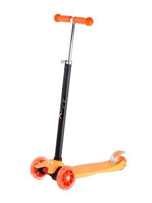 Самокат 3-х колесный RIDEX 120/80 мм Spark, оранжевый. Цвет: розовый