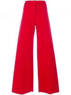Широкие брюки Philosophy Di Lorenzo Serafini. Цвет: красный