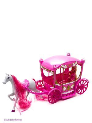 Штеффи в сказочной карете, 60см, 1/4 Simba. Цвет: розовый