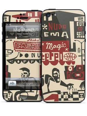 Виниловая наклейка для iPhone 5 Mid Market-Brian Barneclo Gelaskins. Цвет: красный, черный, молочный