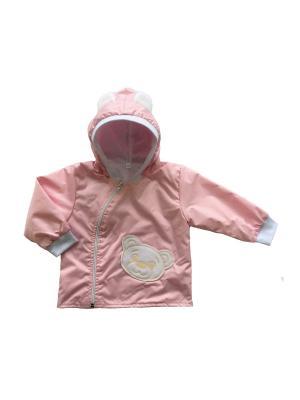 Ветровка Медвежонок Дашенька. Цвет: розовый