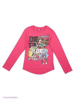 Лонгсливы Monster High. Цвет: розовый