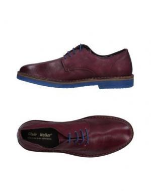 Обувь на шнурках WALLY WALKER. Цвет: красно-коричневый