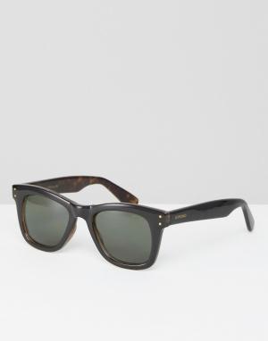 Komono Черные квадратные солнцезащитные очки Allen. Цвет: черный