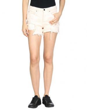 Джинсовые шорты ALEXANDER WANG. Цвет: светло-розовый