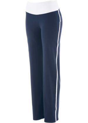 Расклешенные брюки (темно-синий) bonprix. Цвет: темно-синий