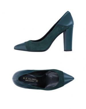 Туфли G.P. PER NOY BOLOGNA. Цвет: темно-зеленый