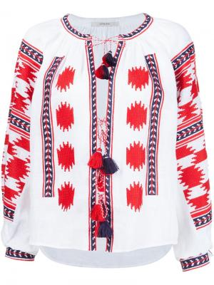 Блузка с вышивкой Vita Kin. Цвет: красный