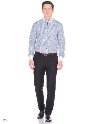 Рубашка мужская манжет под запонки WHITE CUFF. Цвет: голубой
