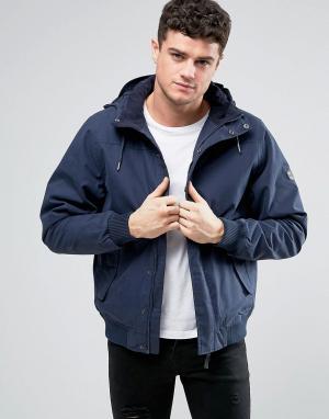 RVCA Водоотталкивающая куртка с капюшоном Humble. Цвет: темно-синий