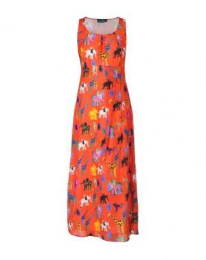 Длинное платье GIULIA ROSITANI. Цвет: красный