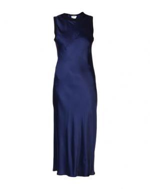 Длинное платье DKNY. Цвет: синий