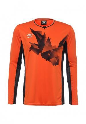 Лонгслив спортивный Umbro. Цвет: оранжевый