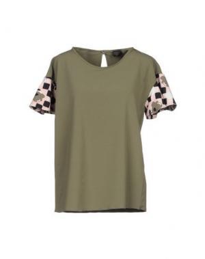 Блузка GUTTHA. Цвет: зеленый-милитари