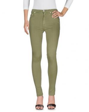 Джинсовые брюки (+) PEOPLE. Цвет: зеленый-милитари