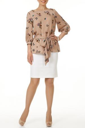 Блузка с поясом Argent. Цвет: мультиколор