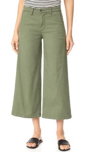 Укороченные брюки Devin со средней посадкой Baldwin Denim. Цвет: шалфей