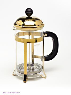Кофейник Bekker. Цвет: прозрачный, золотистый